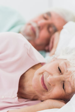 Woman And Man Sleeping
